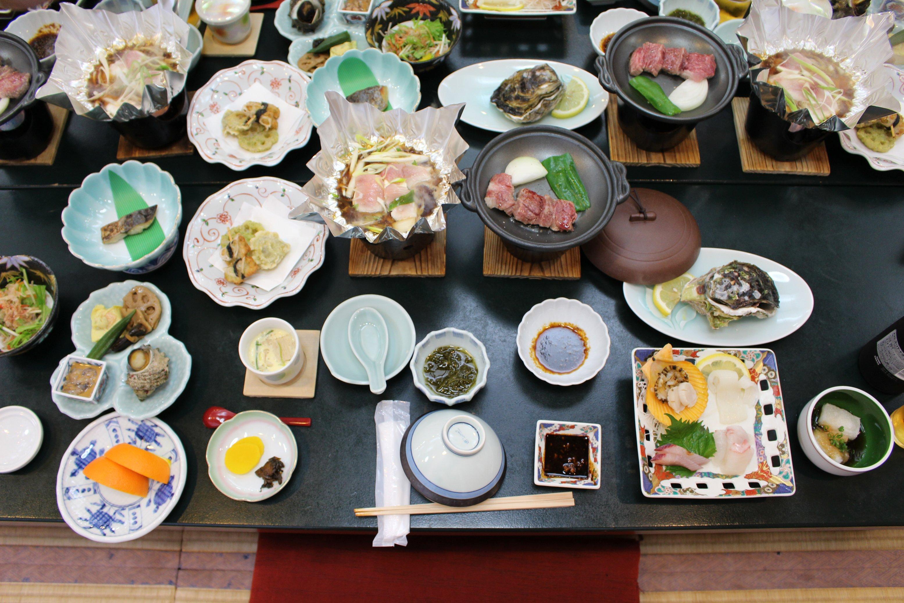国賀荘の料理