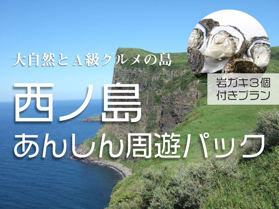 大自然とA級グルメの島 西ノ島あんしん周遊パック